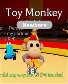 Toy monkey