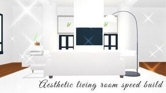 Aesthetic Adopt Me futuristic house SPEEDBUILD Pt 1- Living room
