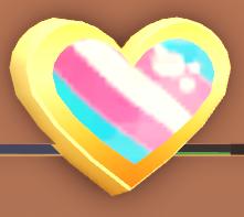 AM Trans Pride Pin on board