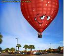 Meatwad hot air balloon