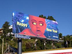 Happy new year adult swim billboard