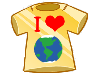 I Love Earth Badge