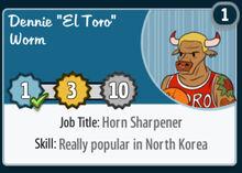 Dennie-el-toro-worm