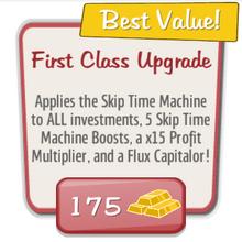 Event Deal First Class Upgrade