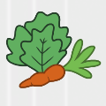 Veggies badge
