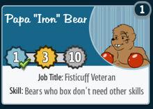 Papa-iron-bear
