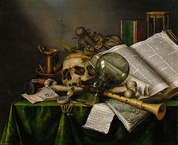File:737px-Edwaert Collier - Vanitas - Still Life with Books and Manuscripts and a Skull - Google Art Project.jpg