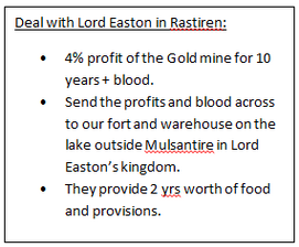 Deal with Lord Easton