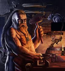 Rurik Lufgar (Dwarf Blacksmith)