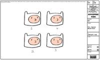 Modelsheet finn-special mouth chart