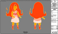 Modelsheet flameprincess summerdressoutfit