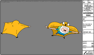 Modelsheet Finn and Jake in Flying Squirrel Mode