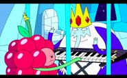 Re Ghiaccio insegna a suonare alla Principessa Lampona