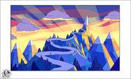 Montagne di Ghiaccio al tramonto