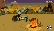 S5e14 Simon and Marcy sitting by the fire