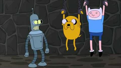 Finn and Jake Adventure Time Cameo in Futurama