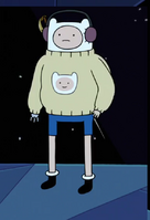 Finn in sweater
