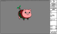 Modelsheet Pig in Xmas Sweater with Rims