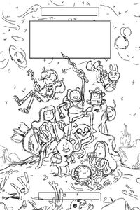 Adventure Time Distant Lands poster sketch