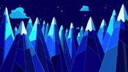 Montagne di Ghiaccio di notte