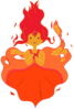 Flame princess vector from adventure time by juliefoo-d59yzzm