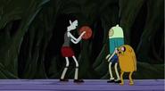 S5 e14 Finn, Jake and Marceline playing basketball