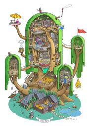 Adventure-time-фэндомы-Внутри-Деревянного-Форта-3227430