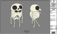 Modelsheet jake - skeleton