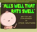 Всё славно, а у крыс и подавно
