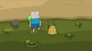 185px-S5 e35 Finn and Slime Princess enter the puddle of slime
