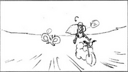 S5e52 Canyon hop around land on seat storyboard