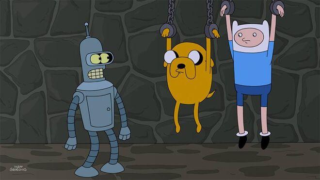 Adventure Time in Futurama