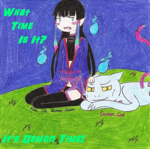 File:Demon queen and demoncat by kisakim-d4bbmvh.jpg