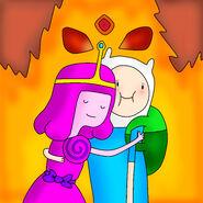 Hugging between flames