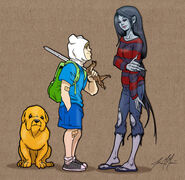 Jake finn and marceline by massgrfx-d4o8bcz