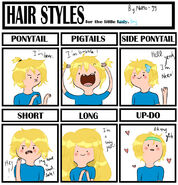 Hair style meme finn the human by natto 99-d55rd64