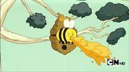 Bee puking.