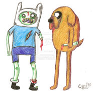 Zombie Time with Finn and Jake by fattehboi