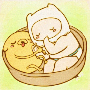 Baby finn and jake from adventure time by xxlostxkittenxx-d4r7sk1