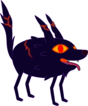 Fire Wolf Pup