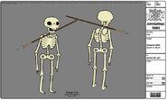 Skeleton with Spear Through Neck Modelsheet