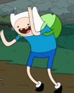 Finn doing a dancing-like thing