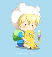 Chibi finn and jake drawn on mouse by antares star xd-d4xxais