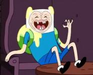 Finn looking freaky