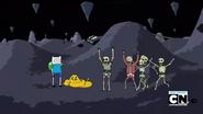 S2e17 Jake showing skeletons his flesh
