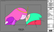 Modelsheet princessbubblegum kissingfinnonthelips - specialpose