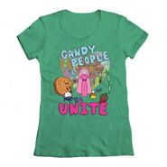 Candy people unite green shirt