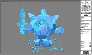 Modelsheet Ice King in Ice Armor - Special Pose with Ice Debris