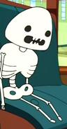S2e19 skeleton of green gumdrop dude