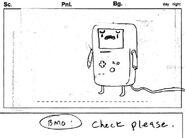 Storyboard s2e23 Check please BMO